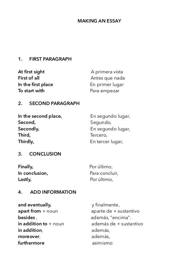 Essay expressions