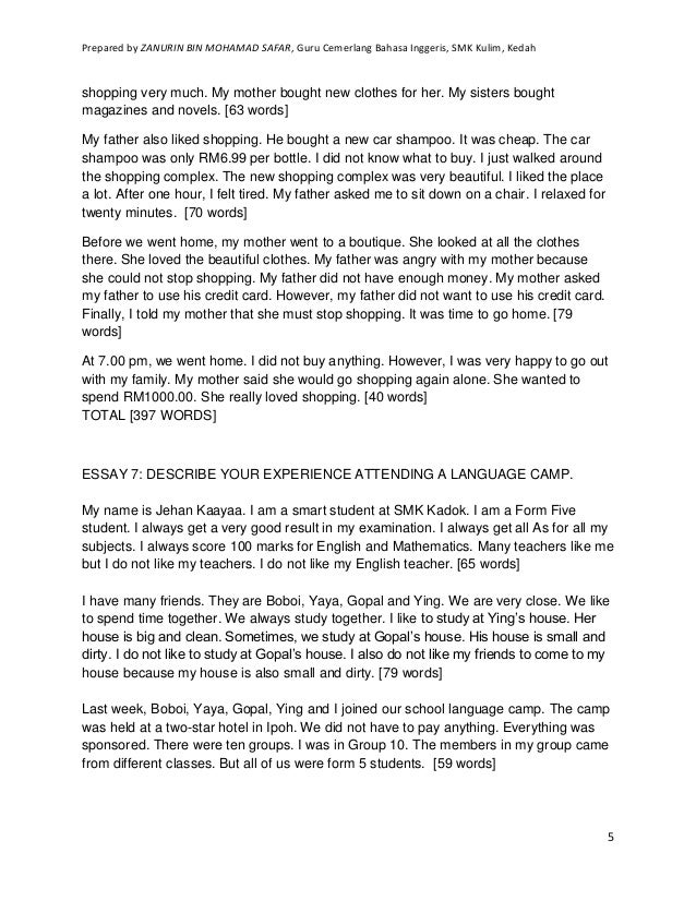My home essay