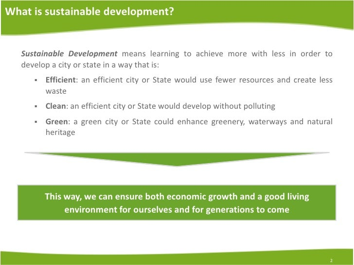 Sustainable Development Essays