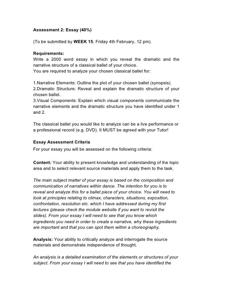 Assessment 2: Essay (40%)  (To be submitted by WEEK 15, Friday 4th February, 12 pm).  Requirements: Write a 2000 word essa...