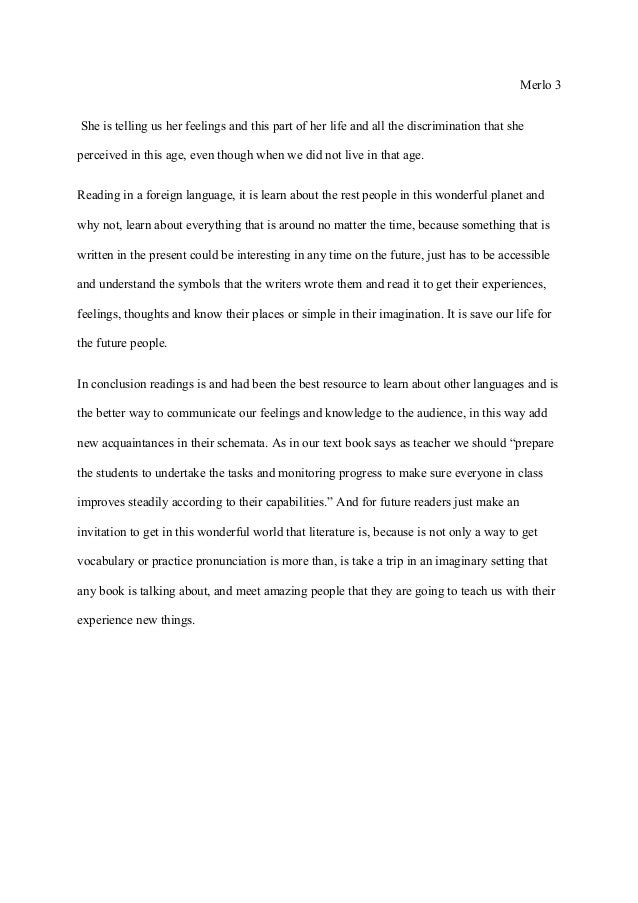 Example essay the benefit of reading