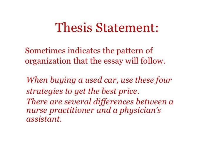 difference between intro and thesis