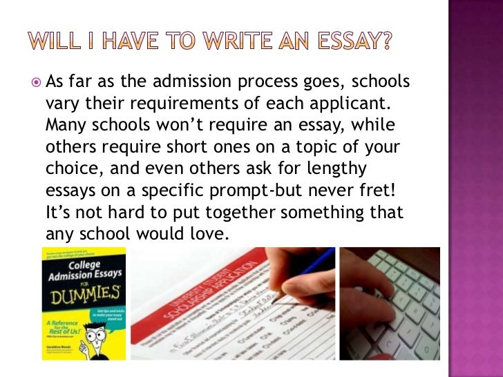 college admissions essays about yourself