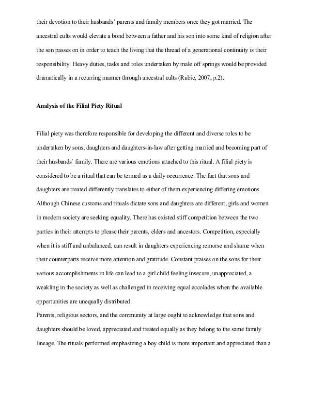Descriptive Essay About Family Tradition