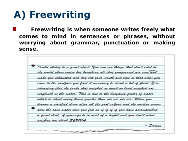 I have to write a essay on freewrite? what is my writing process?