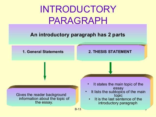 Essay general statement