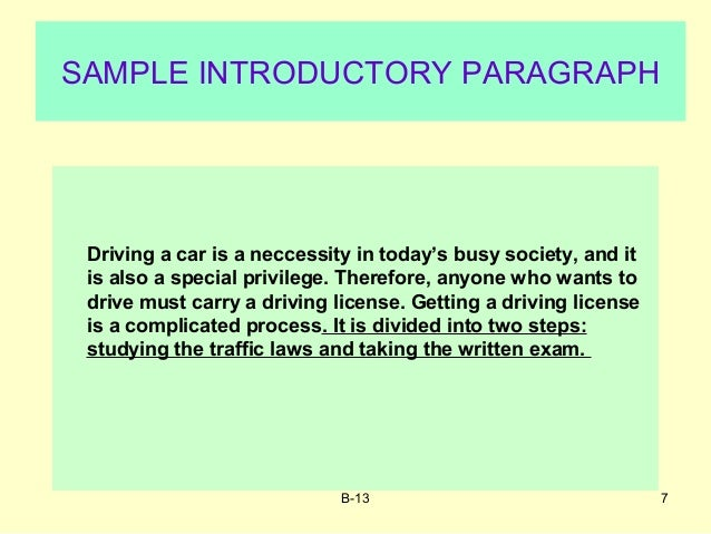 process essay on how to drive a car Driving lesson videos for learners and those wanting to advance their driving skills this ultimate guide made by an expert driving instructor helps both.