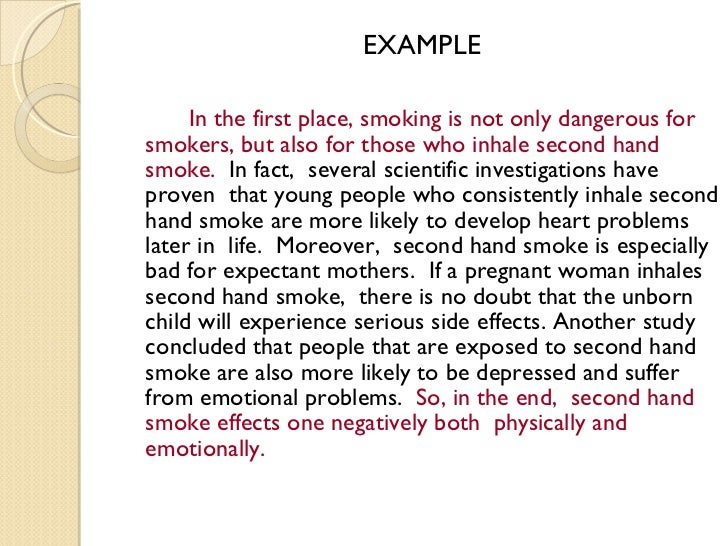 the disadvantages of smoking essay