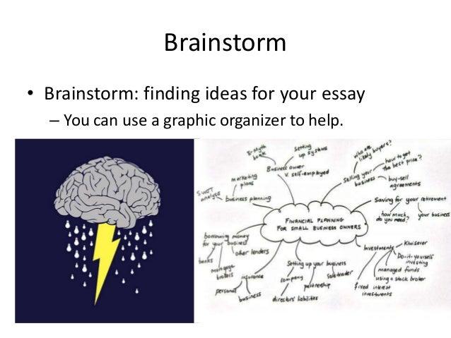 Essay brainstorm