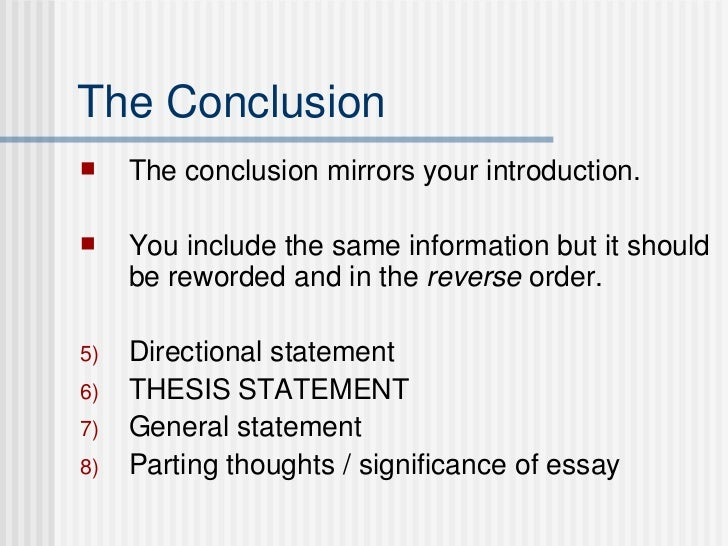 thesis directional statement