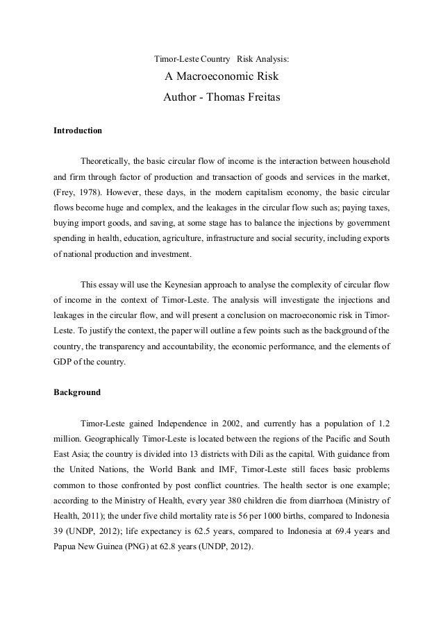 Timor-Leste Country Risk Analysis: A Macroeconomic Risk Author - Thomas Freitas    Introduction Theoretically, the basic...