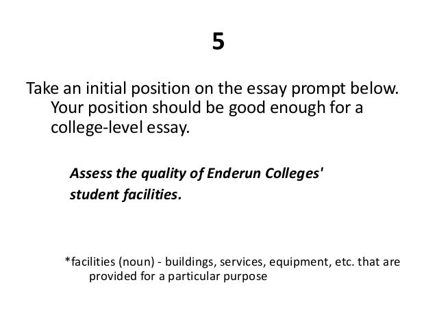 essay prompt for ucf 2013