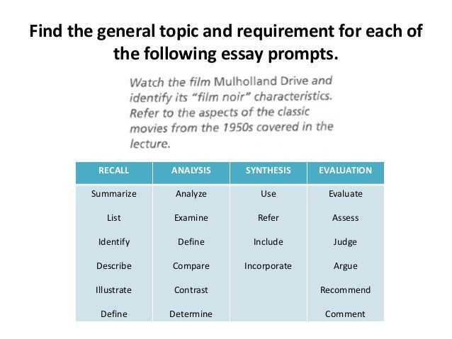 Sites for essay