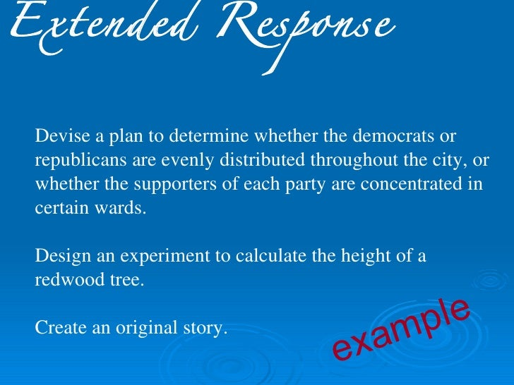 restricted response essay item Essay items are the item of choice if you want an unrestricted  where the nature of the response is restricted or not  the essay item format has unparalleled.