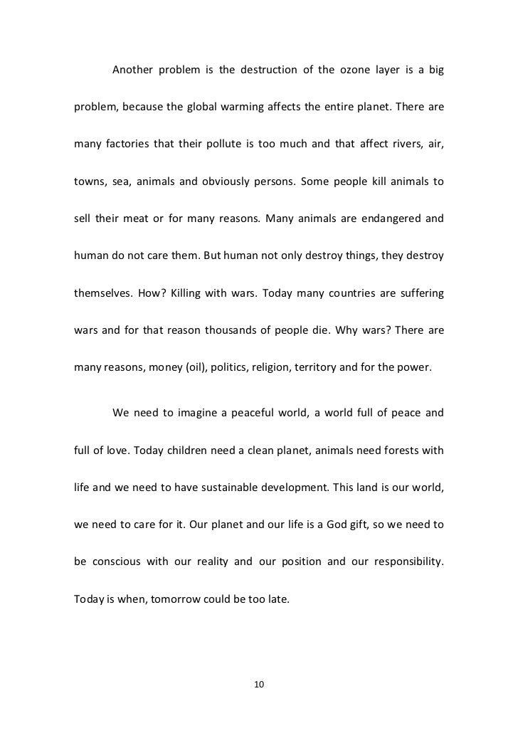 350 words essay global warming