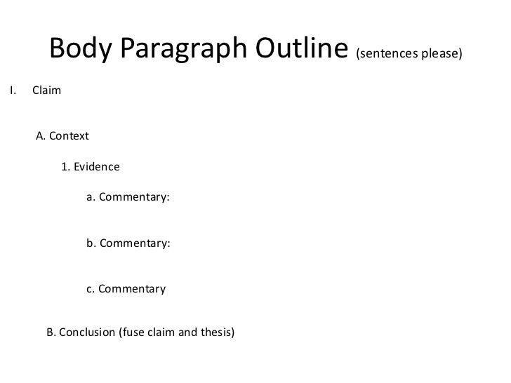 essay sentence outline
