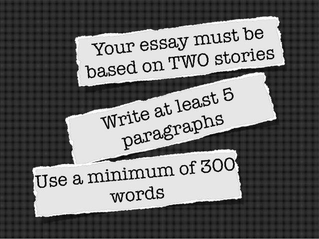 2 short stories for essay?