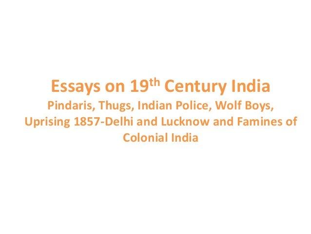 Essays on 19th century india