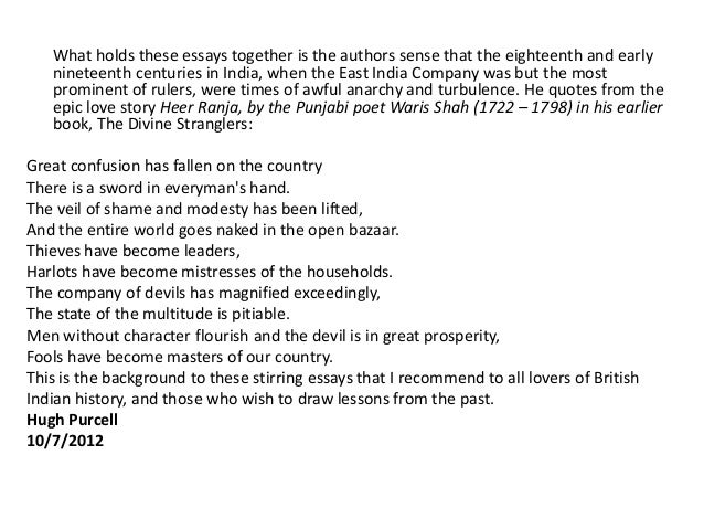 essays on  th century india