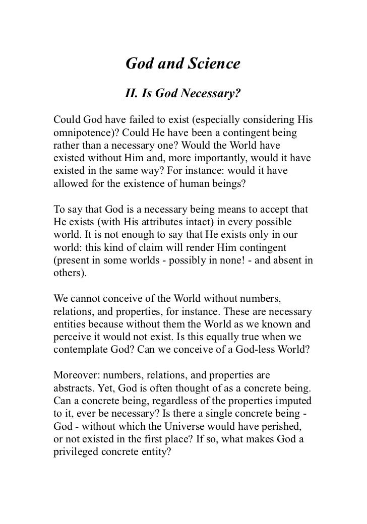 Who is god essay