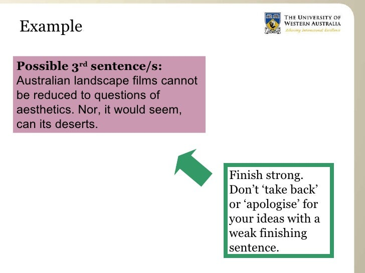 What's a good way to structure my sentences for my essay?
