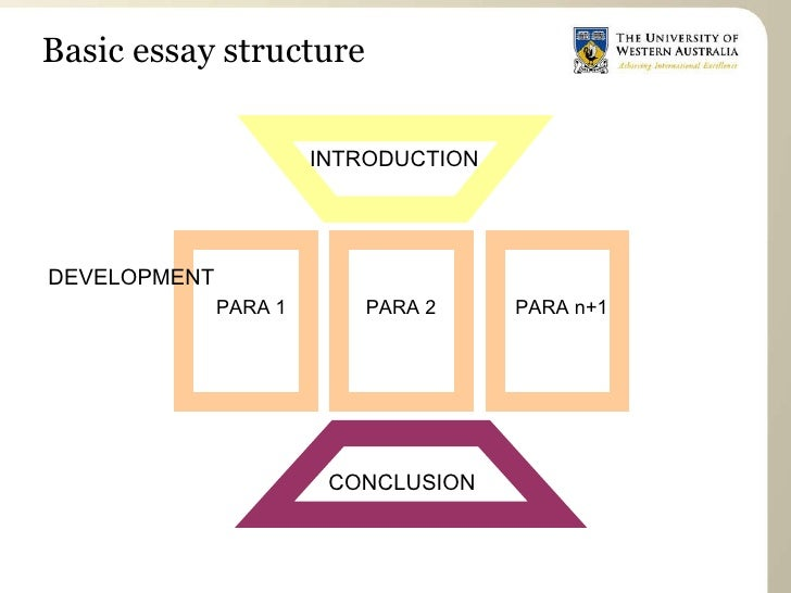 structures of essays Paragraphs: the main part of the essay: structure and linking this section should be read in parallel with that which looks at the production of introductions and conclusions (next module) here the emphasis is on the writing which occurs between the two, the main body of the essay it takes practice to manage the material.