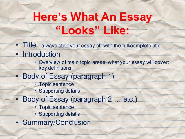 How to start off an essay ?