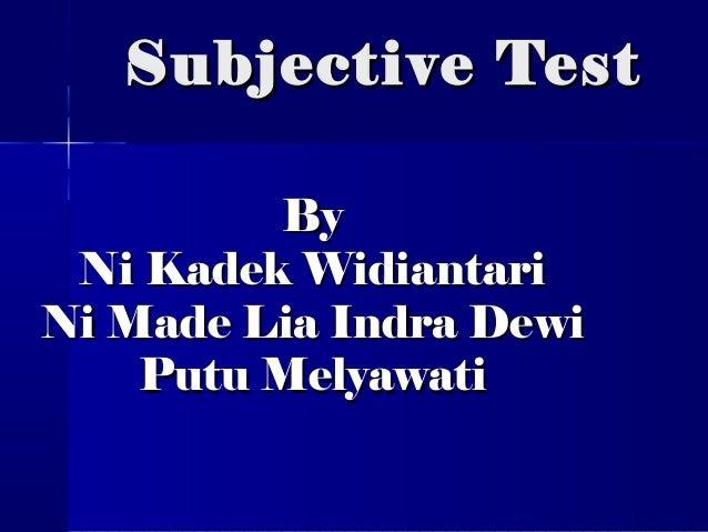 essay subjective