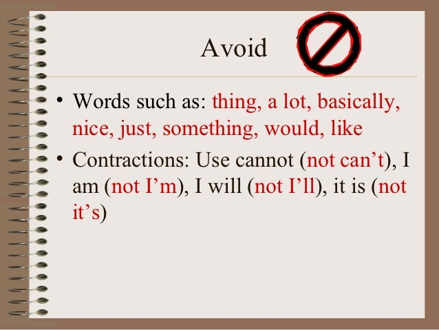 Can you use contracted words in essay