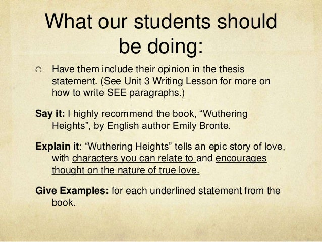 wuthering heights thesis statements