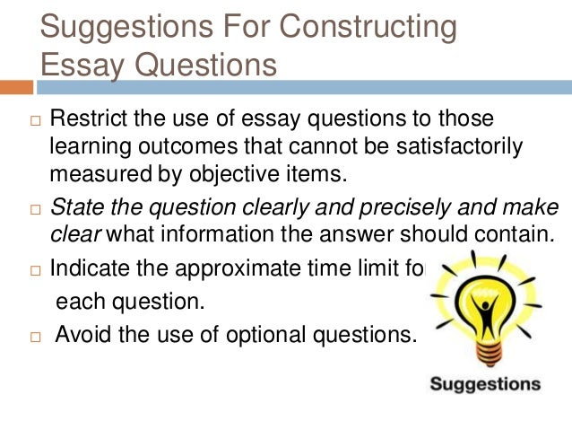 construction essay type question Essay questions - the expert essay writers at uk essays have made some free example essay questions available in a whole range of different subjects.