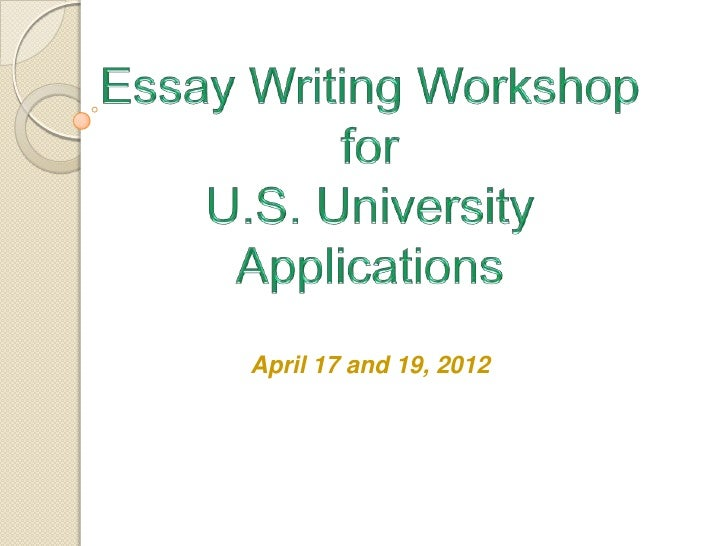 Essay workshop april 2012 final