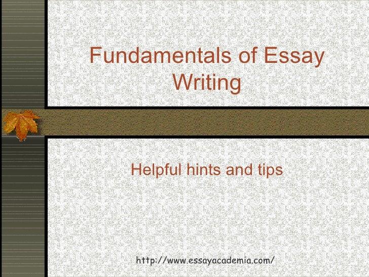 Essay fundamentals