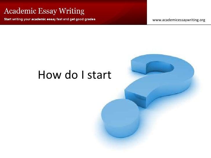 How do i start this essay?