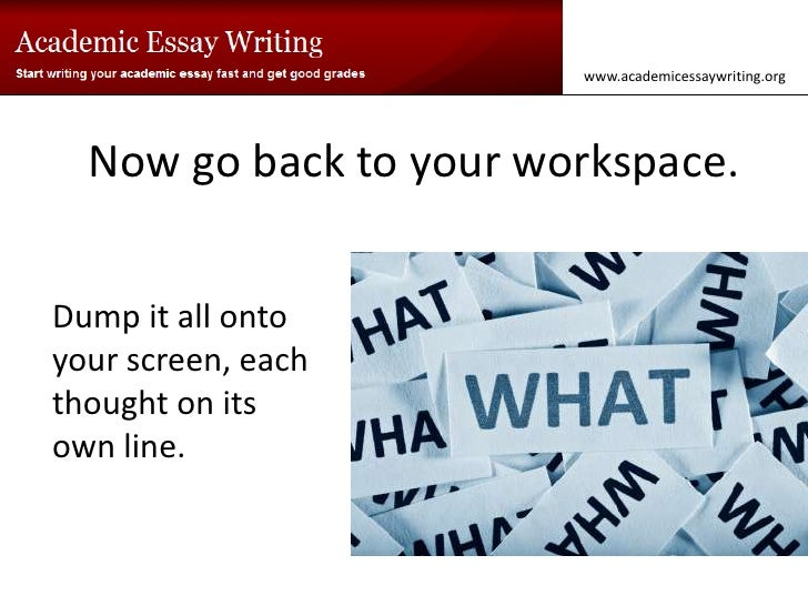 How do you go about starting an essay?