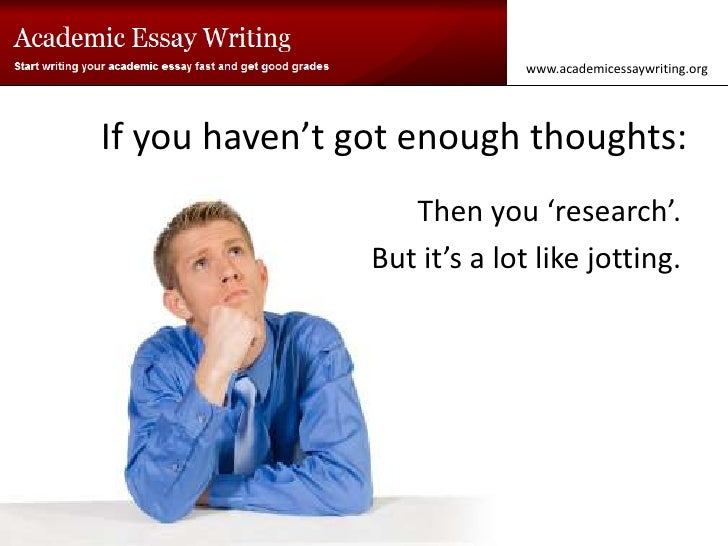 Got a question about writing an essay?