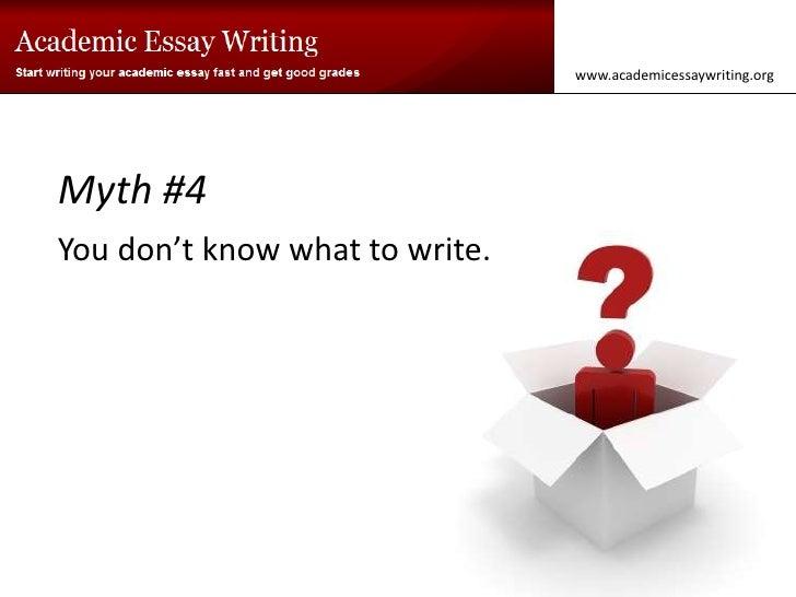 I Write Essays