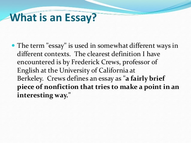 Writing A Proper Essay