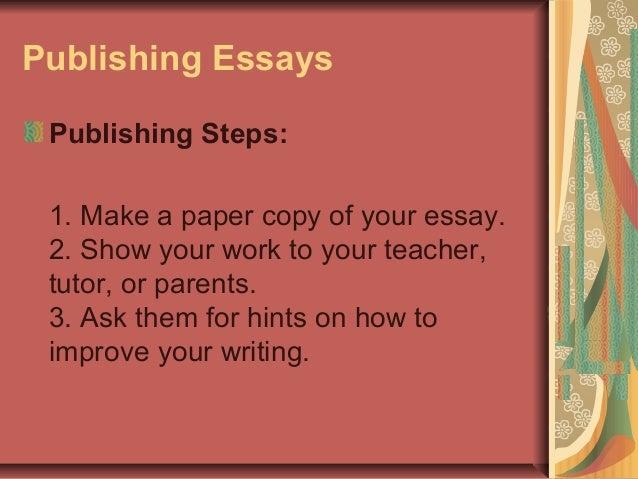 Improving essay writing