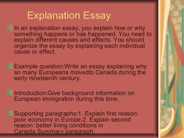 essay of explanation Essays contain an explanation of your ideas and evidence from the text (short story, poem, play) that supports those ideas textual evidence consists of summary .