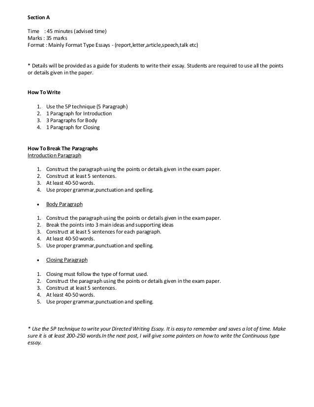 types of english papers to write - English Essay Examples