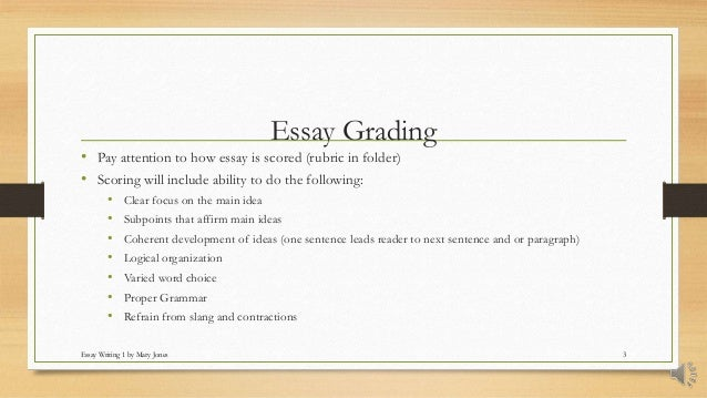 How is the hiset essay graded