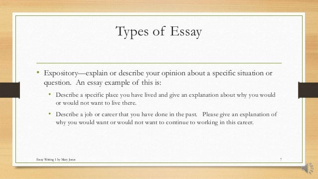 different kinds of expository essay Discovering essay types: narrative, descriptive, expository expository essays are common at the college level, and they are primarily research papers.