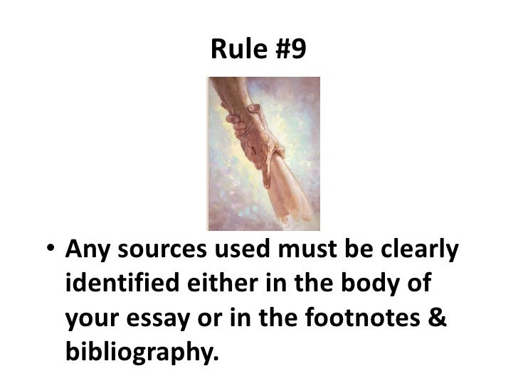 essay rules of writing