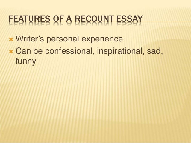 what are the features of essay writing