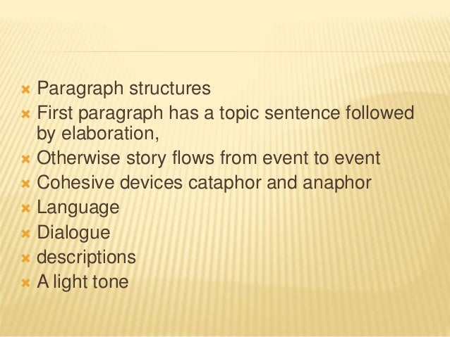Different kinds of narrative essay