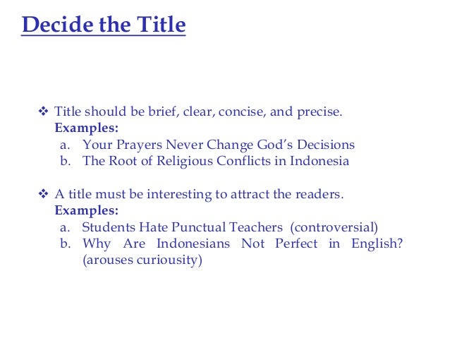 Im writing an essay for english language the title should be ''The Lie''?