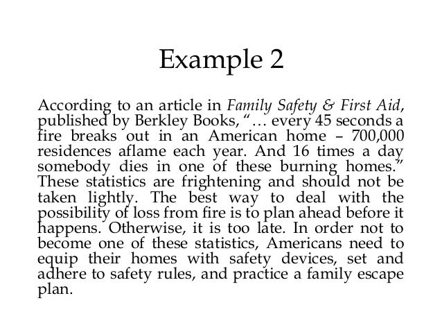 Essay on fire safety