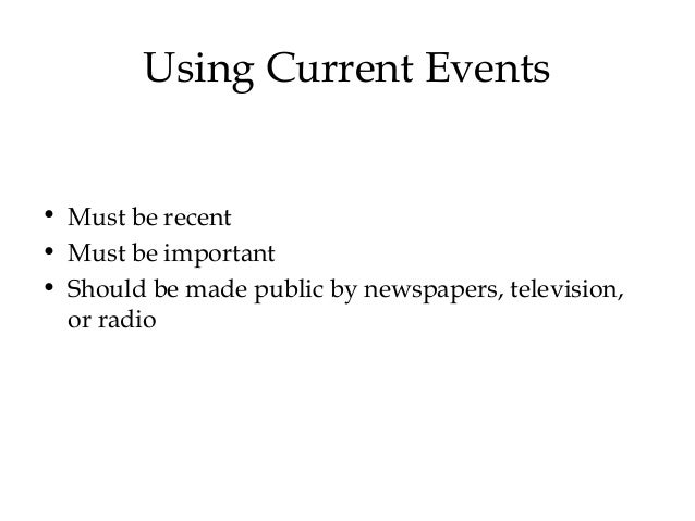 Current events essay