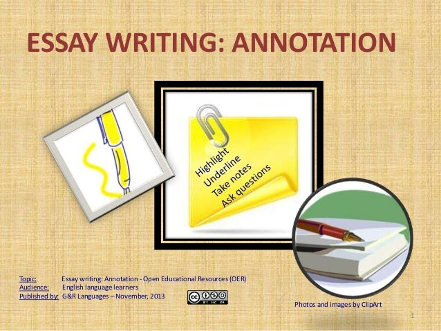 Tips for annotating an essay